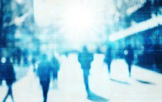 people wandering