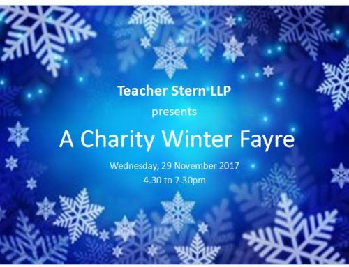 Teacher Stern Charity Winter Fayre
